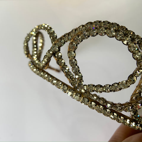 c. 1920s to 1930s antique paste headdress or tiara