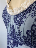 pretty blue 1960s Laura Ashley midi dress with flower print - made in Wales earliest label
