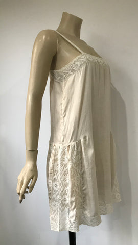 antique 1920s ivory underslip or night dress