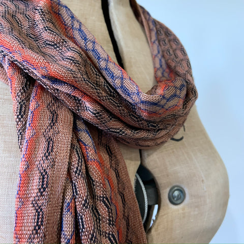 1930s vintage rayon knit scarf - missoni style