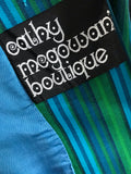 1960s vintage original Cathy McGowan Boutique boating style bright blue stripe db blazer jacket