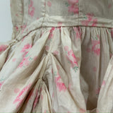 Antique costume - Edwardian era Georgian style boned bodice in rose printed cotton chintz