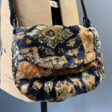 late 1970s to 1980s vintage carpet bag - satchel style by Carpet Bags of Bury St Edmunds