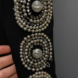 1940s vintage Henri Bendel dress with pearl and rhinestone medallions - A/F