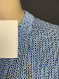 Vintage periwinkle blue 1980s does 1930s? handmade jumper - can't decide!