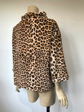Vintage c.1960s bad girl cotton velvet leopard print smock top