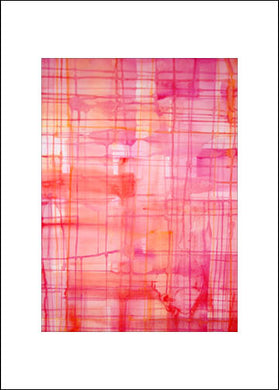 Intense Pink, #2, Blank Notecard