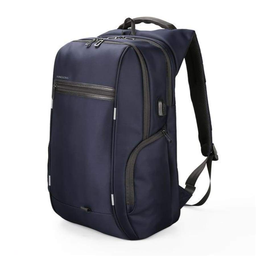 Genuine Business Backpack - Anti Theft Blue