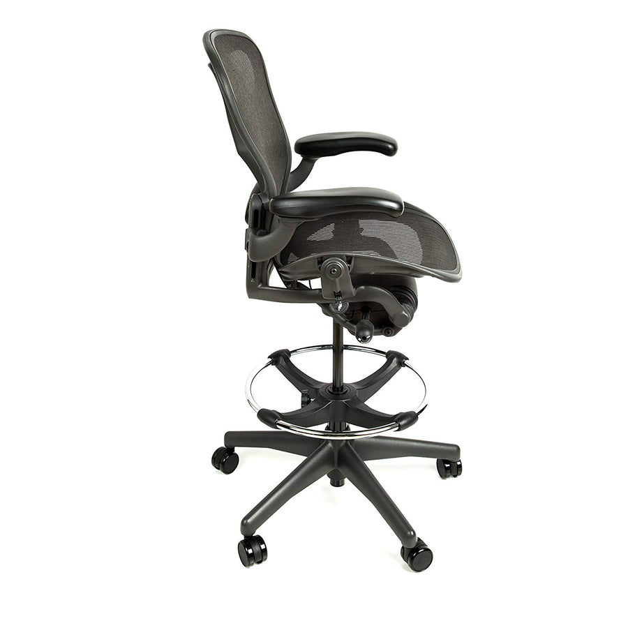 Herman Miller Aeron Drafting Stool Size B with After Market Drafting Ring - Open Box