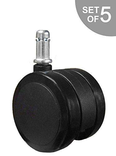 OfficeLogixShop - Soft Caster Wheel for Hardwood Floors  - 5 Casters