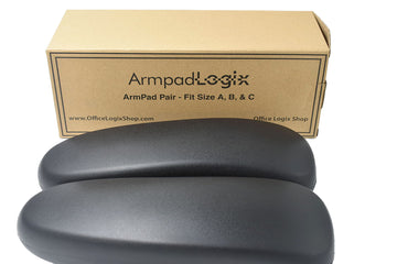 OfficeLogixShop -  Classic Vinyl Arm Pads Pair