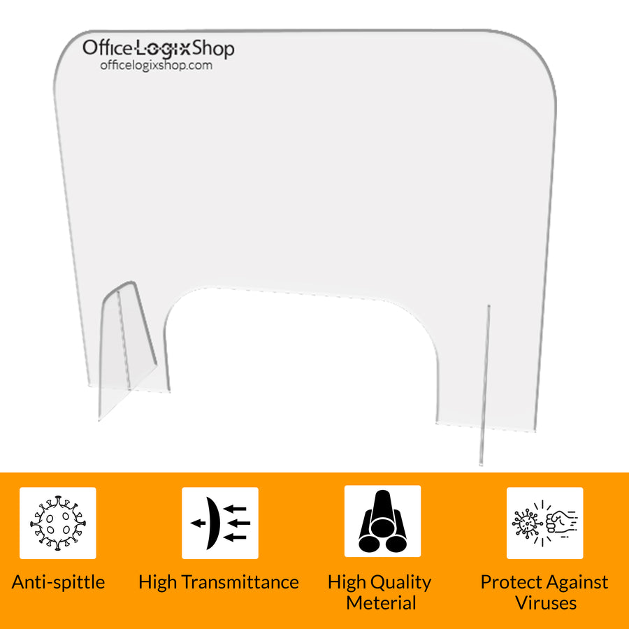 Officelogix PlexiGlass Shields Dividers for Desk- Sneeze Guard 30