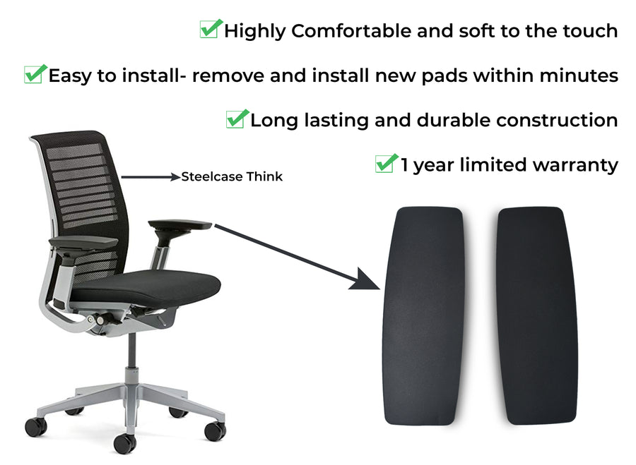 OfficeLogixShop - New Arm pads for SteelCase Leap V2, Amia, Think Chairs