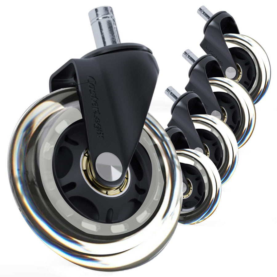 OfficeLogixShop - Office Chair Caster Wheels (Set of 5) -  Roller Blade Style Wheel Replacement