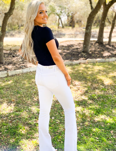 Judy Blue White Flare Jeans