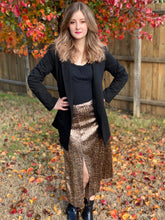 Load image into Gallery viewer, Snake Print Sequin Skirt