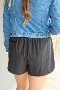 High Waist Double Dolphin Shorts
