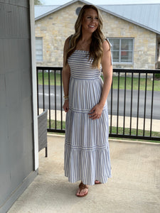 Woven Smocked Maxi Dress