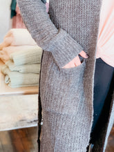 Load image into Gallery viewer, Belted Long-Line Knit Cardigan