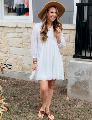 Chiffon Off White Dress