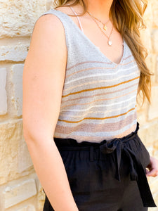 Multi Stripe Knit Tank