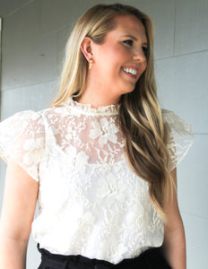 Graced in Lace Top