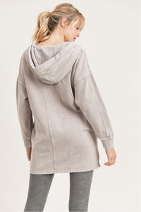 Long Line Mineral Washed Pullover