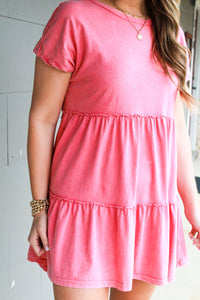 Mineral Washed Babydoll Knit Dress