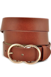 Brown Double Ring Buckle Belt