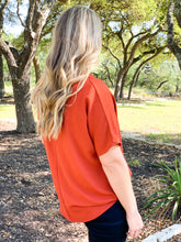 Load image into Gallery viewer, Longhorn V neck blouse