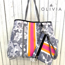 Load image into Gallery viewer, Taylor Gray Olivia Metallic Tote