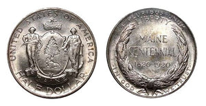 2020 Marks the 100th Anniversary of the Maine Centennial Half Dollar Coin
