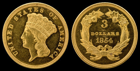 The Short-Lived $3 Indian Gold Coin