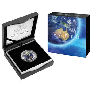 EARTH AND BEYOND - Domed 1 oz Silver Coin from the Australian Mint