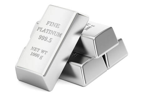 4 - 1000 gram fine platinum bars that are 999.5 purity.