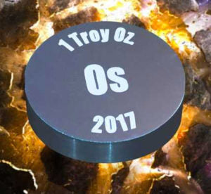1 Troy oz of Osmiridium from 2017