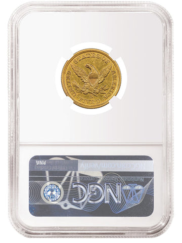 1854 S $5 Gold Liberty Reverse Coin NGC Label