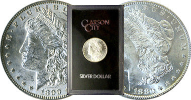 Three Carson City Morgan Silver Dollars