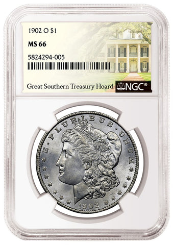 1902 O Morgan Dollar Obverse NGC MS66 Great Southern Treasury Hoard