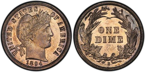 1894 S Barber Dime Obverse and Reverse