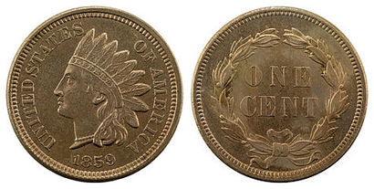 1859 Indian Head Penny Obverse & Reverse
