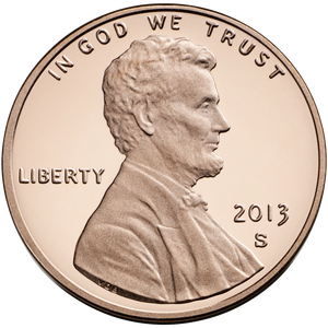 2013 S Lincoln Penny Obverse