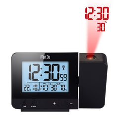 Rechargeable Wireless Projection Alarm Clock That Shows Temperature  - Plus Shop Now