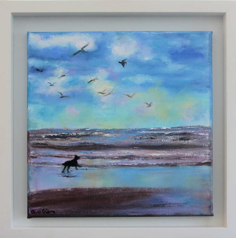Irish art for sale, Chasing The Birds