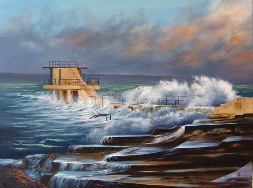Irish art for sale, High Tide, Blackrock