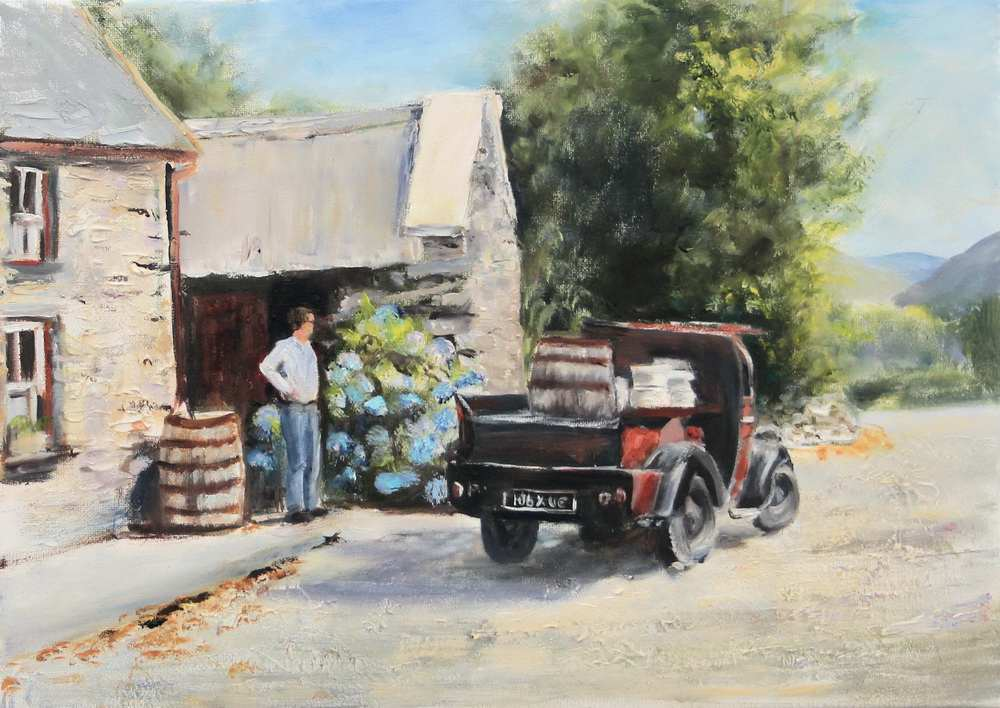 Irish art for sale, Molly's Cottage