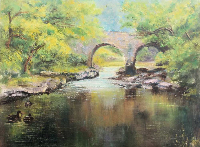 Irish art for sale, Old Weir Bridge, Killarney
