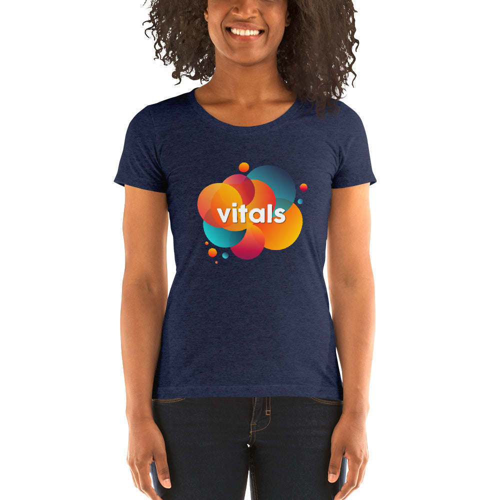 Ladies' short sleeve t-shirt - Navy Triblend / S - VITALS Demo Store -