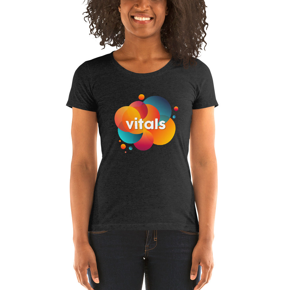 Ladies' short sleeve t-shirt - Charcoal-Black Triblend / S - VITALS Demo Store -