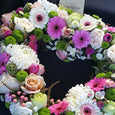 Wreath Funeral Mini Petals Florist